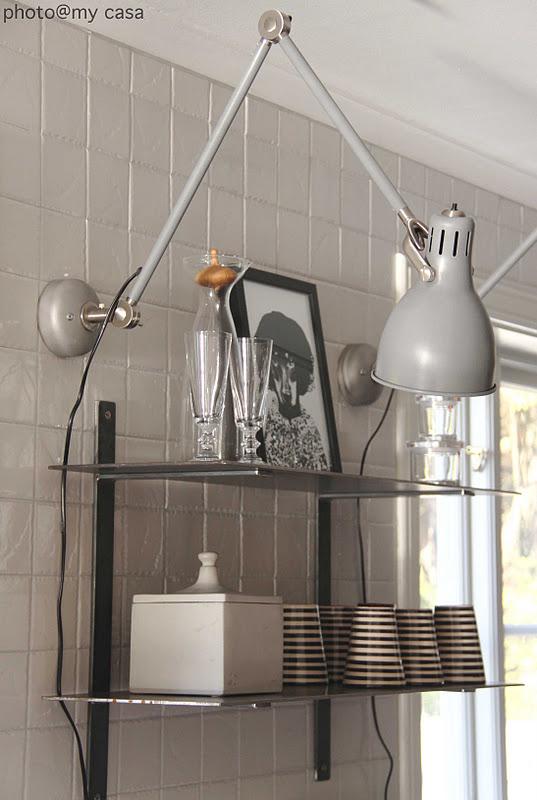 Aröd lampan från Ikea som vägghängd! u2013 Halloj