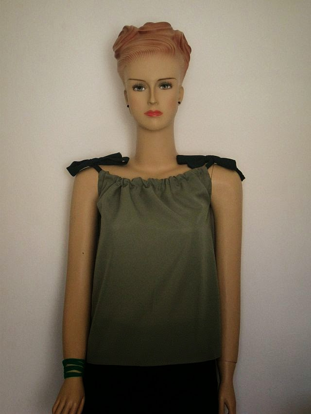 DIY Gathered Camisole Top + FREE Pattern Instructions - Greenie ...