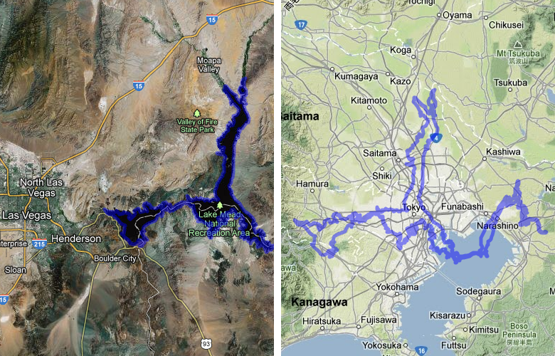 Beautiful Hoover Dam And Lake Mead (United States) Compared To Tokyo