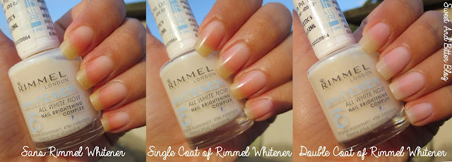 Rimmel London Whitener All White Now Nail Brightening Complex Swatch