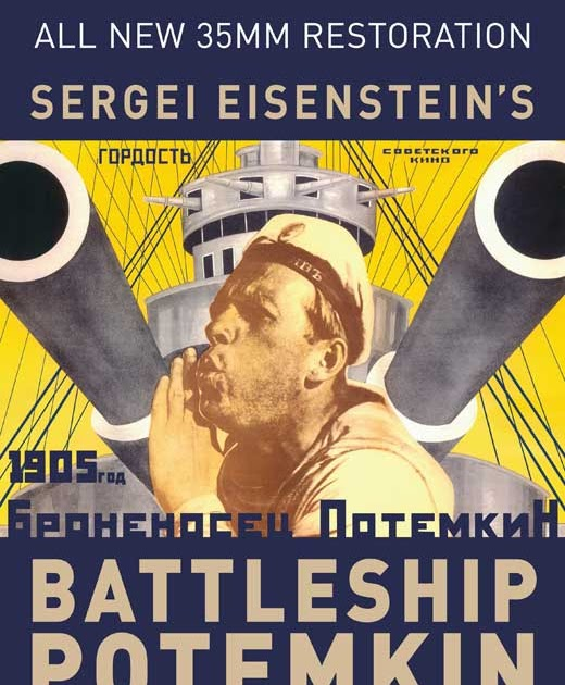 "an analysis of political propaganda in battleship potemkin by sergei eisenstein ""the battleship potemkin"" is conceived as class-conscious revolutionary propaganda, and eisenstein deliberately avoids creating any three-dimensional individuals (even vakulinchuk is seen largely as a symbol."