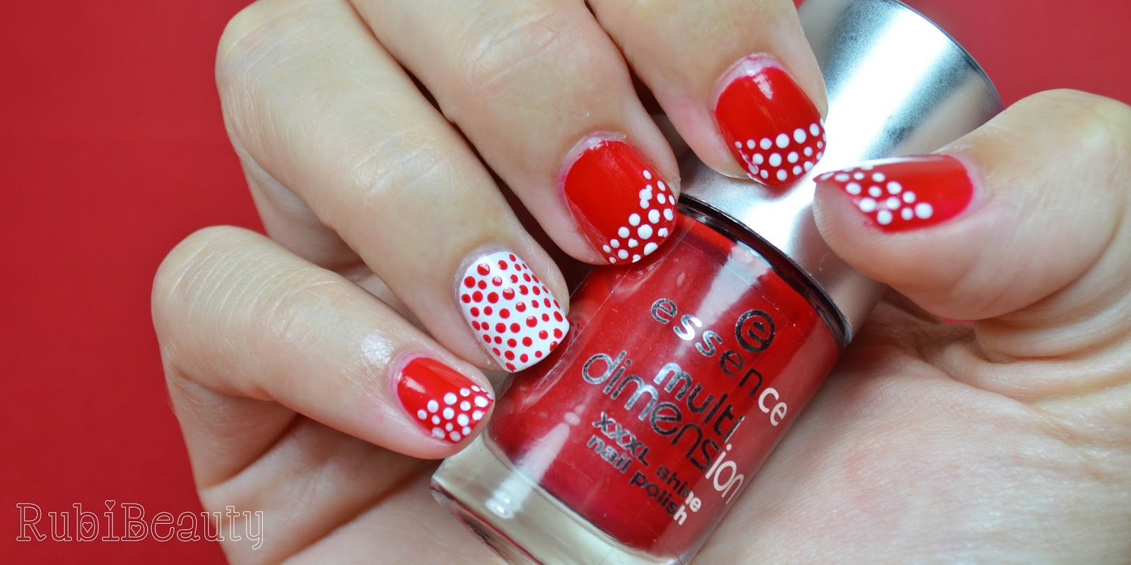 nail art diseños uñas puntos rojo red comic ojo horus it huelva rubibeauty