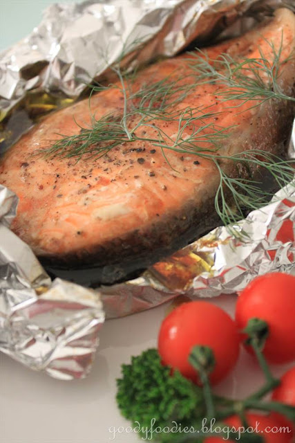 GoodyFoodies: Recipe: Easy oven-baked salmon trout (Asian ...