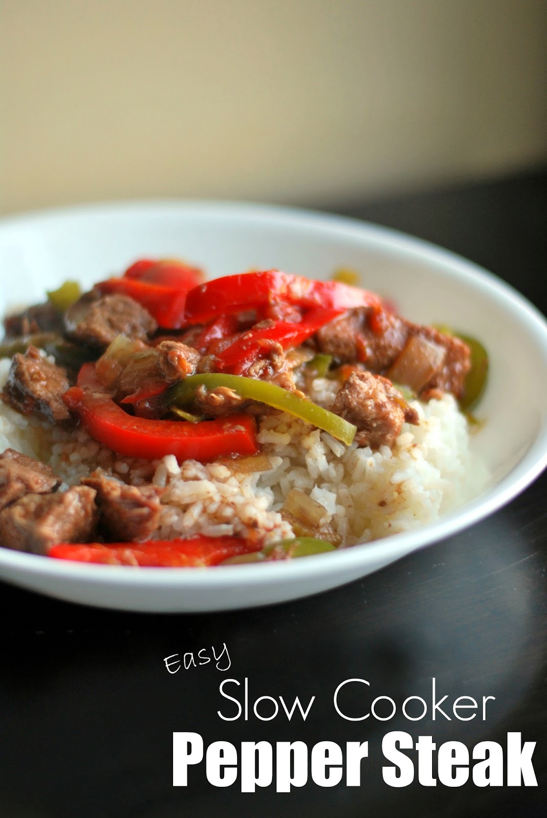 Easy Slow Cooker Pepper Steak - Aunt Bee's Recipes