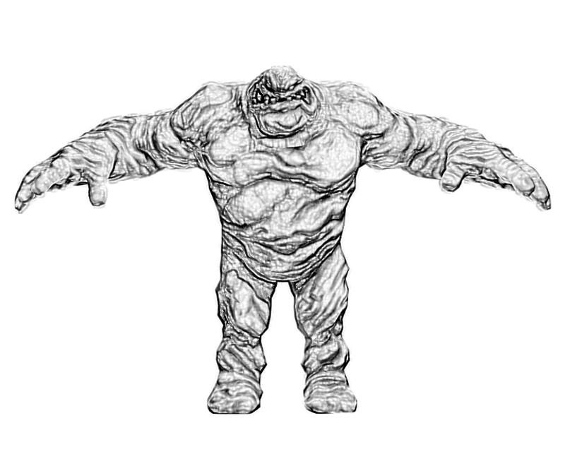 batman-arkham -city-clayface-character-coloring-pages