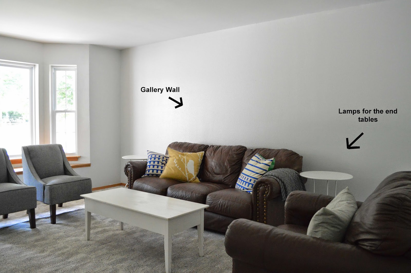 Shaping the Nest Filling a big empty wall on a budget