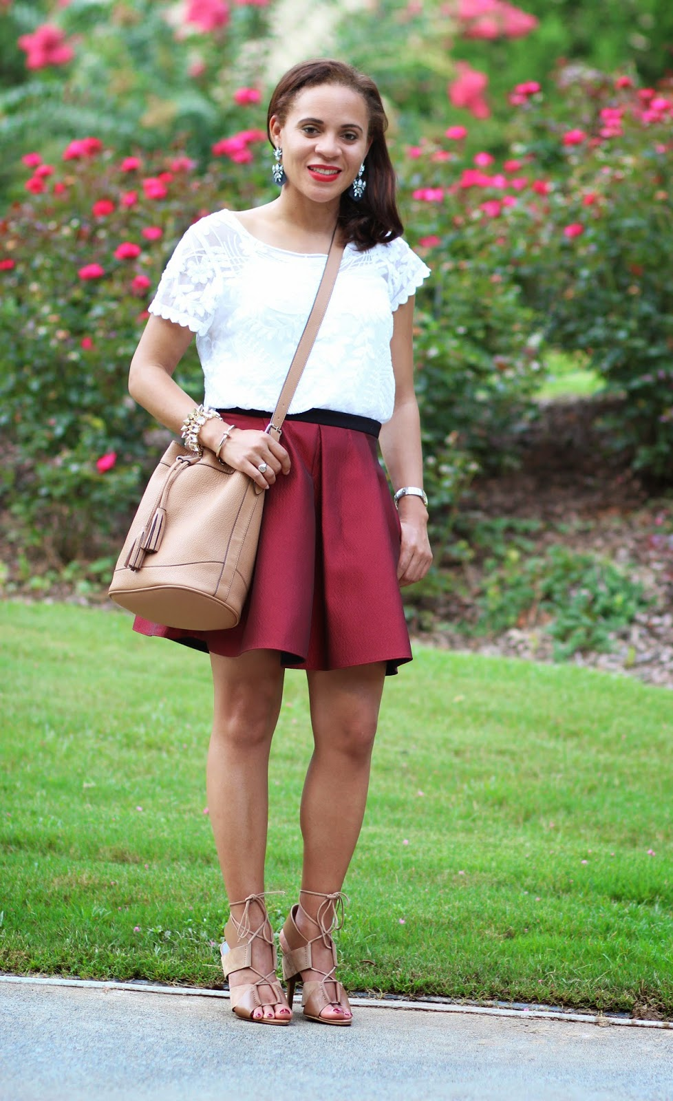 Express-White-lace-top