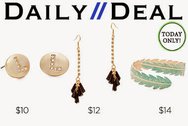 Today only: Your chance at 2 stunning earrings and the elegant yet earthy Maia leaf-design cuff. Tr