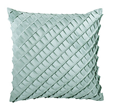 Blue Ruffle Throw Pillow : Thro Ltd. ?Stacey? Silver Blue Ruffle Decorative Pillow Everything Turquoise