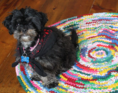 Crocheted Round Rag Rug