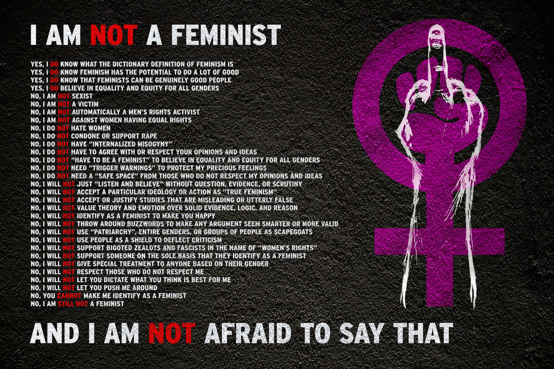 thoughts on feminism and dystopia in Feminist, in my view, should work to liberate from patriarchy and its horrors not only women, but men as well both from a moral and tactical perspectives, this carceral 'feminism' is not only worthless to give women's struggle anything of value, but also, i believe, it stands to harm it.