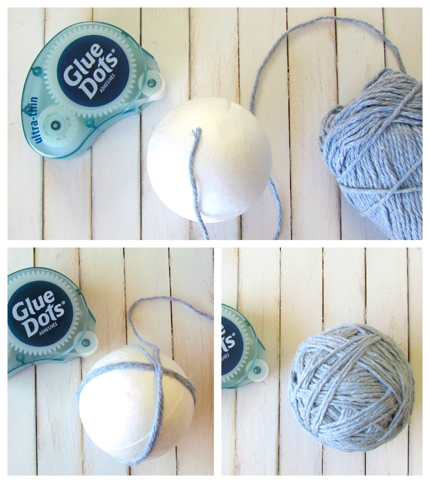 how to make yarn balls without glue