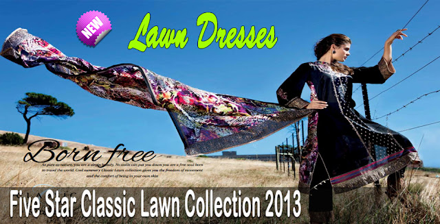 Five Star Textiles Classic Lawn Collection 2013