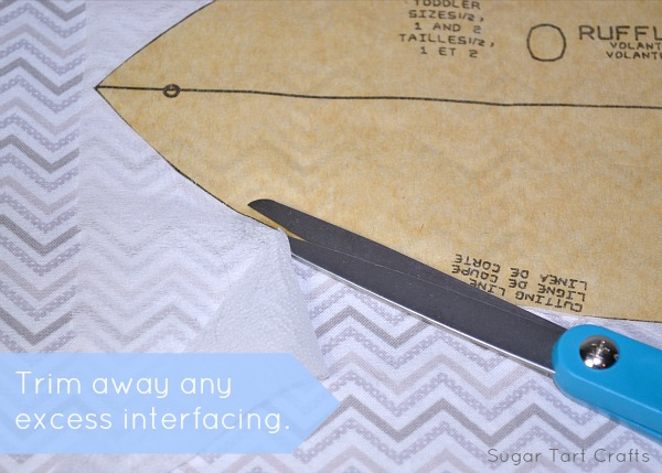 Trim away any excess interfacing.