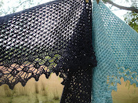 Goddess by Gabriella Henry. With it's pretty lace edge and bead accents, this light and ethereal shawl is fit for any goddess to wear.