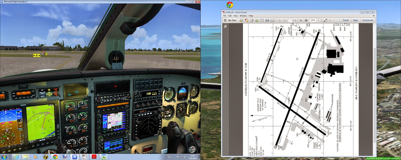 Lord of the wings flight simulation piper malibu delivery tour at the ramp 8 inspecting aerodrome chart pooptronica