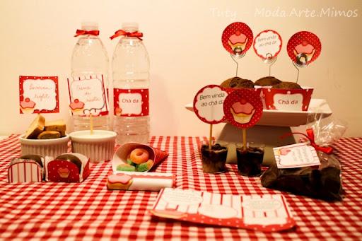 Casando e Amando: Decoração: chá de cozinha/panela - vermelho