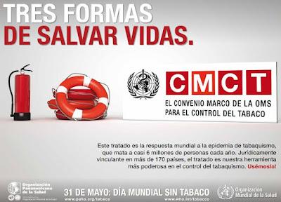Cartel DMST 2011: Convenio Marco de la OMS para el Control del Tabaco (CMCT)