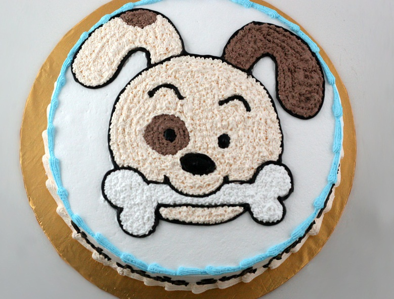 Ảnh bánh sinh nhật hình con cún con chó đáng yêu nhất