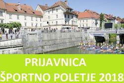Prijavnica Športno poletje 2018