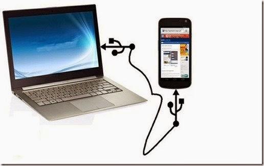 how to connect mobile internet to pc via usb