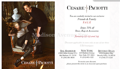Cesare Paciotti 70% Off Friends and Family Sale