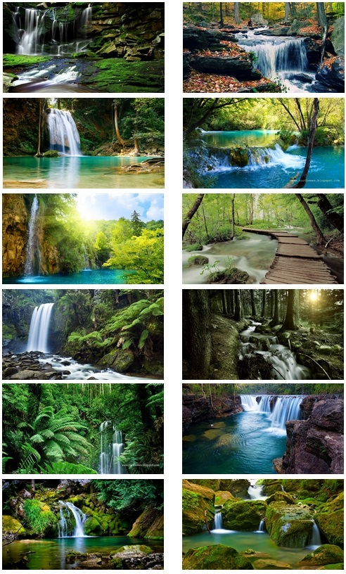 Waterfall Theme For Desktop And Computer