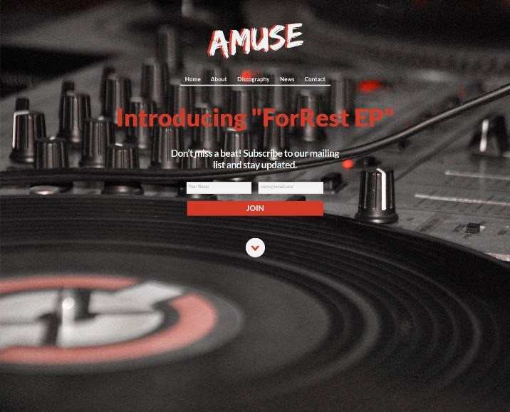 Amuse - Adobe Muse Music Template