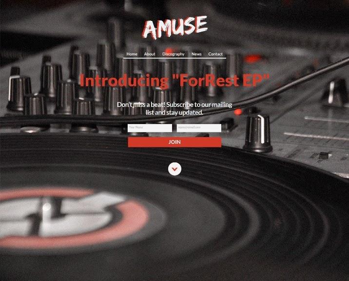 Amuse - Adobe Muse Music Template