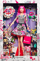 2015 tokidoki barbie pink hair packaging box limited edition