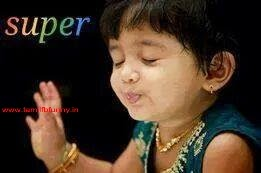 little girl saying super ~ tamil fb Funny