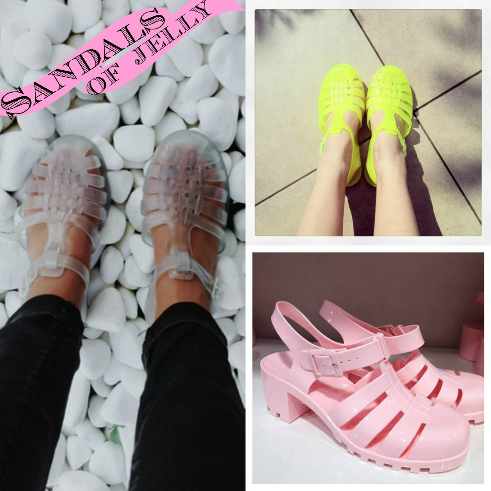 Spring 2014 fashion trends jelly sandals