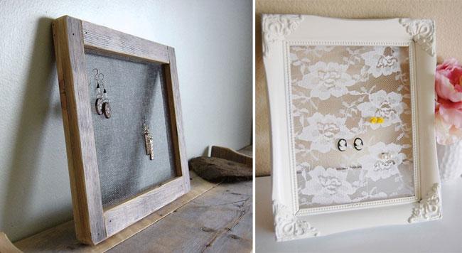 Arte y arquitectura joyeros reciclados - Marcos de fotos para colgar ...