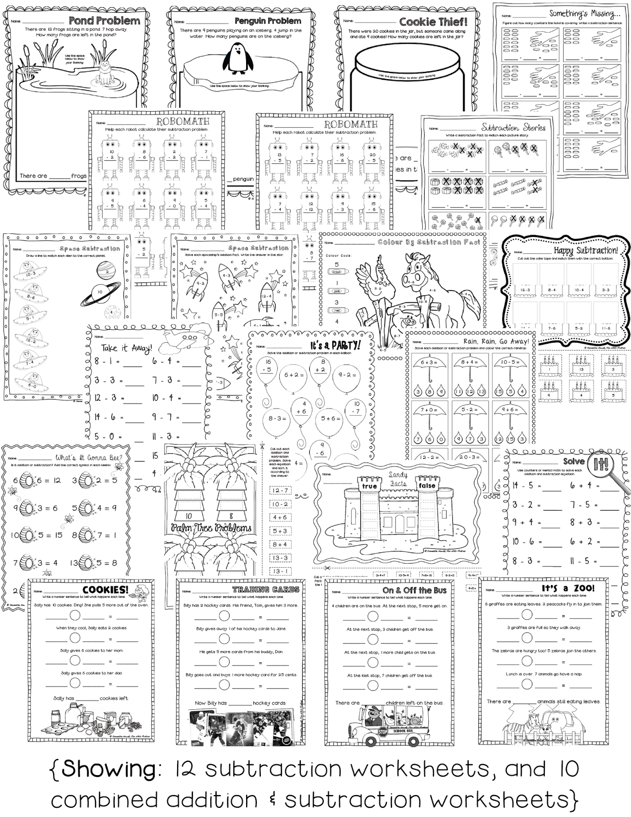 Fun With Firsties Free Addition Math Station Worksheet Noise