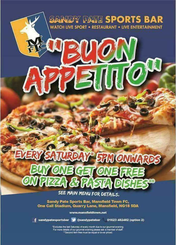 Buy One Pizza-Get One Free Every Saturday