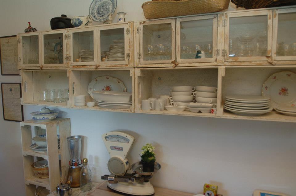 Kit Adesivo Joia De Unha ~ Cozinha Rustica feita de caixotes de feira Casa e Reforma