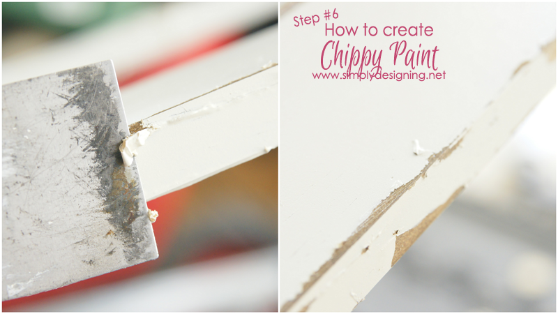 how to create the chippy paint look - I LOVE this!!!  | this is sooooooo cool!!  | #diy #paint #homeimprovement #homedecor #spon