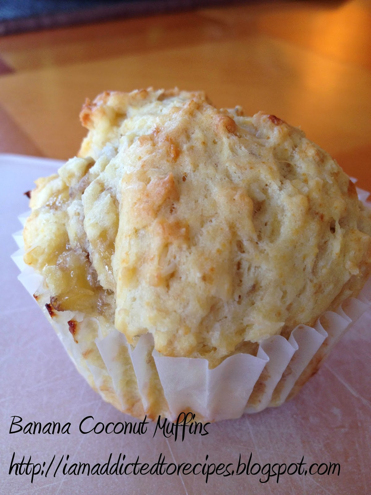 Banana Coconut Muffins | Addicted to Recipes