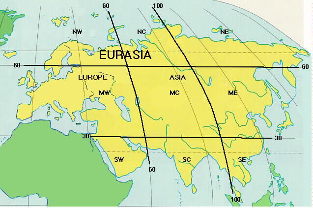 Eurasia map