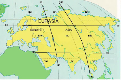 Map of Eurasia Countries