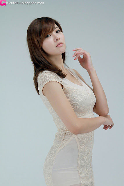 6 Jung Se On - Beige Mini Dress-very cute asian girl-girlcute4u.blogspot.com
