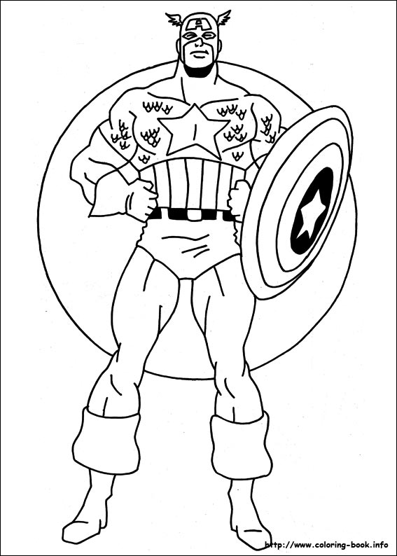 superhero coloring pages captain america - photo#15