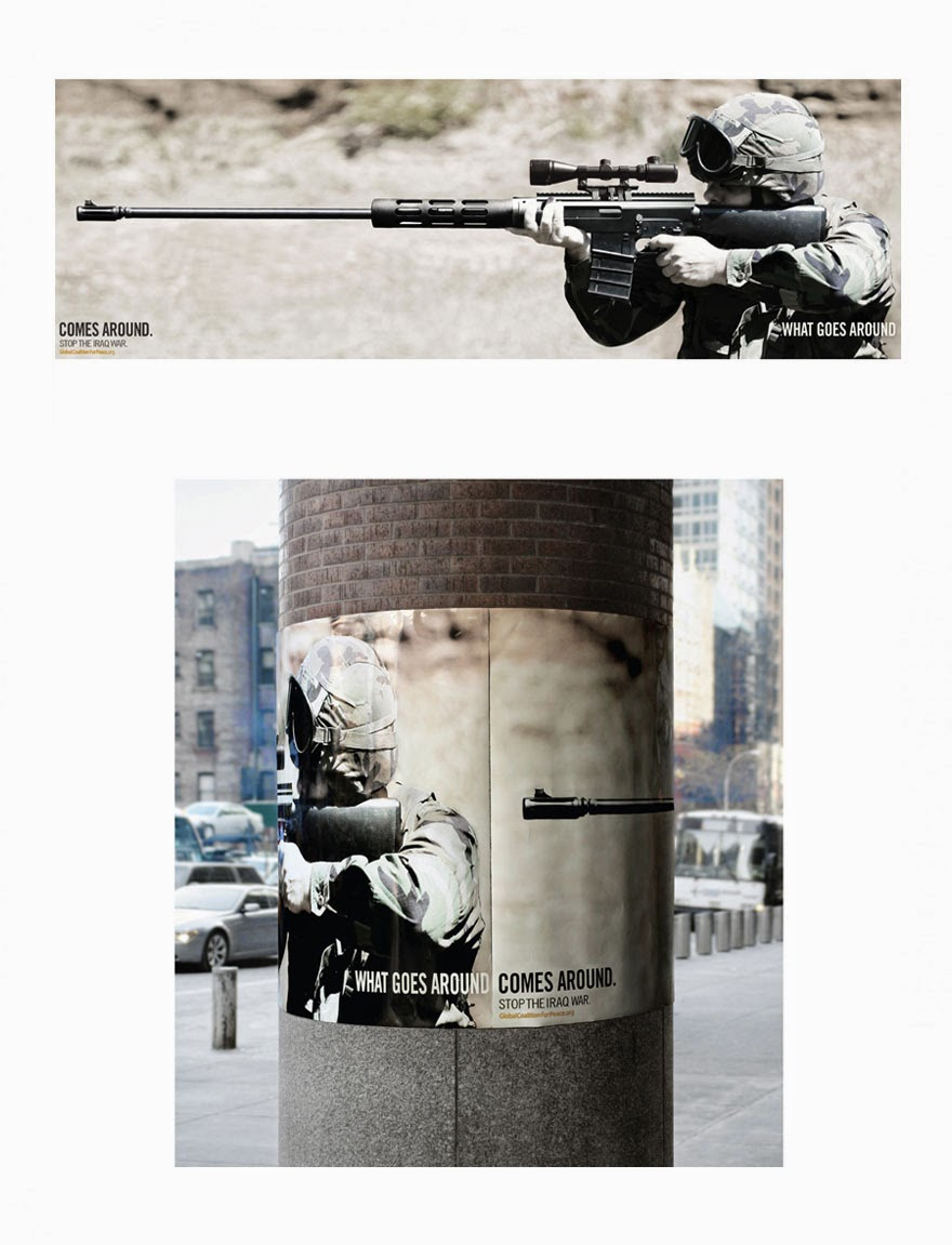 40 Of The Most Powerful Social Issue Ads That'll Make You Stop And Think - What Goes Around Comes Around: Stop The Iraq War