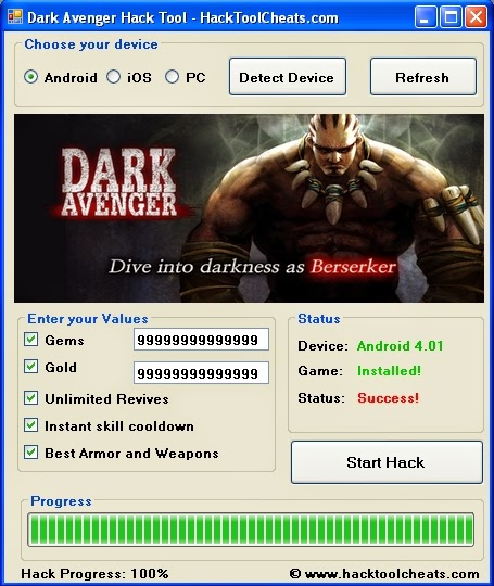 Dark Avenger Hack Cheats Tool