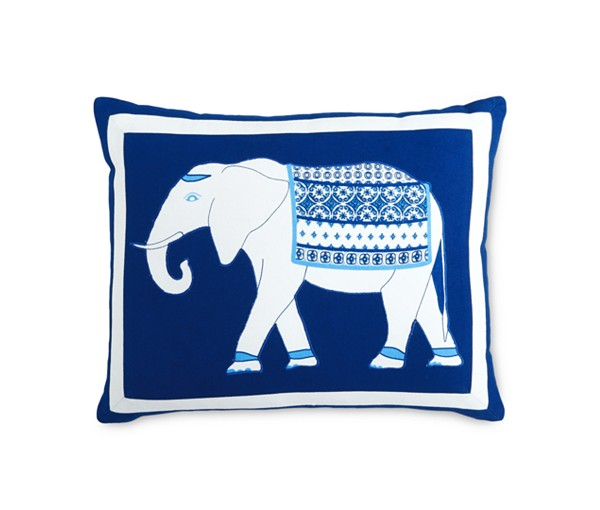 martha stewart indigo collection elephant pillow blue macys on sale