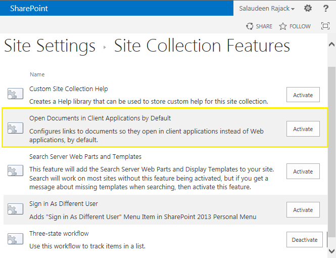 enable open documents in client application to Disable Office Web Apps in SharePoint