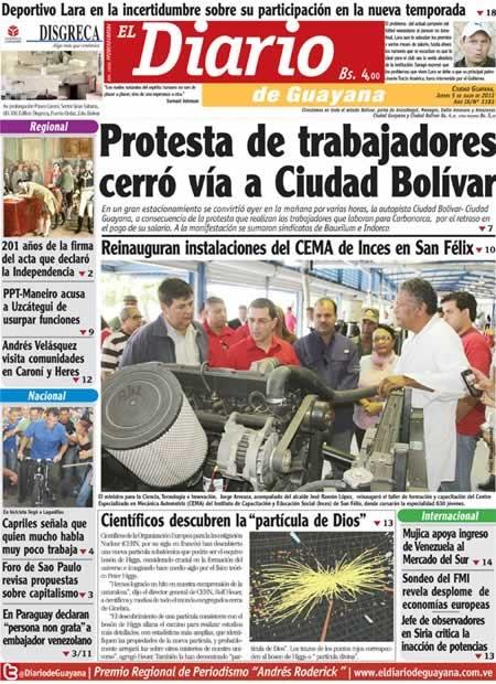 el diario de guayana bolivar 05 de julio 2012 luis el diario de