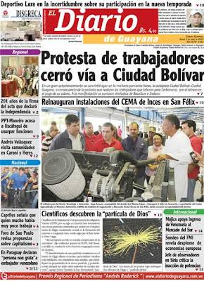El Diario de Guayana (Bolívar) 05 de Julio 2012