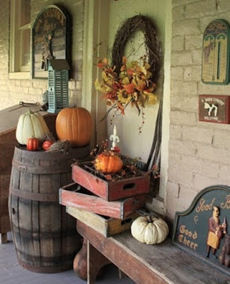 vintage fall halloween decorations