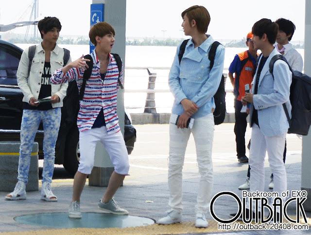 exo kai, sehun, chanyeol, suho airport style